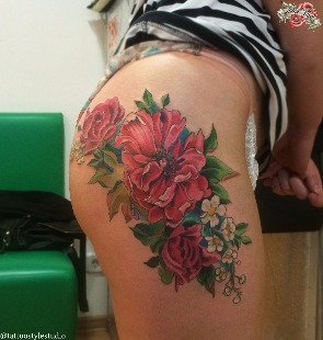 watercolor flowers ass